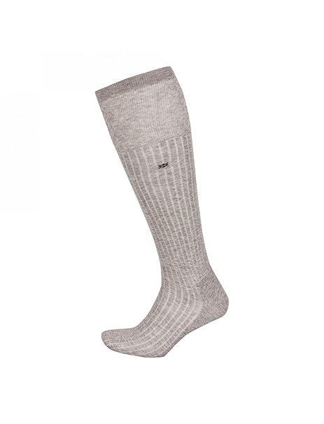 BURLINGTON-Calcetines largos de Escocia CAMBRIDGE inalámbrico para hombre, color Gris jaspeado gris
