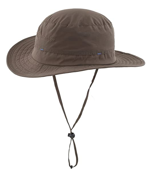 337c0703b4e Magracy Mens Outdoor Sun Hat Summer Wide Brim Bucket Hat Fishing Hiking  Hats Breathable Boonie Safari Hats Packable ArmyGreen  Amazon.co.uk   Clothing