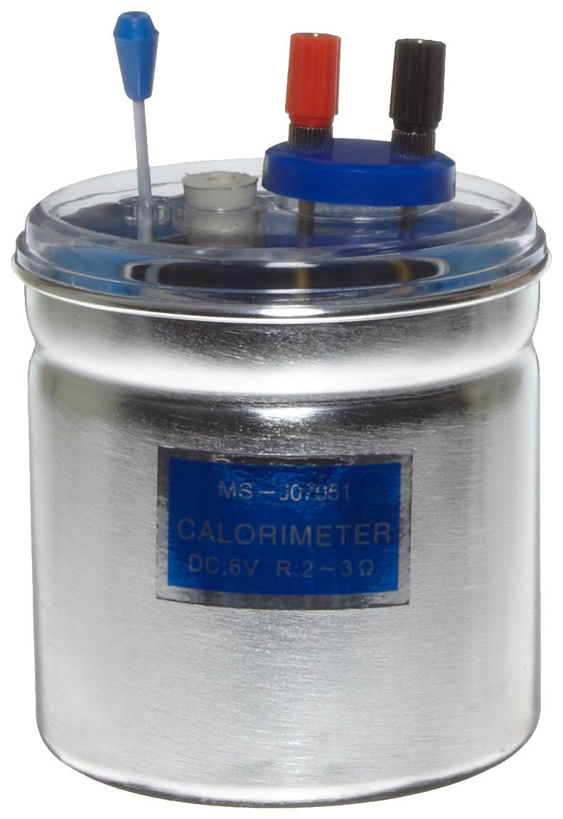 American Educational Electric Calorimeter, with Insulated Handle, 6 Volt, 10 Minutes, 4'' Diameter x 7'' Height