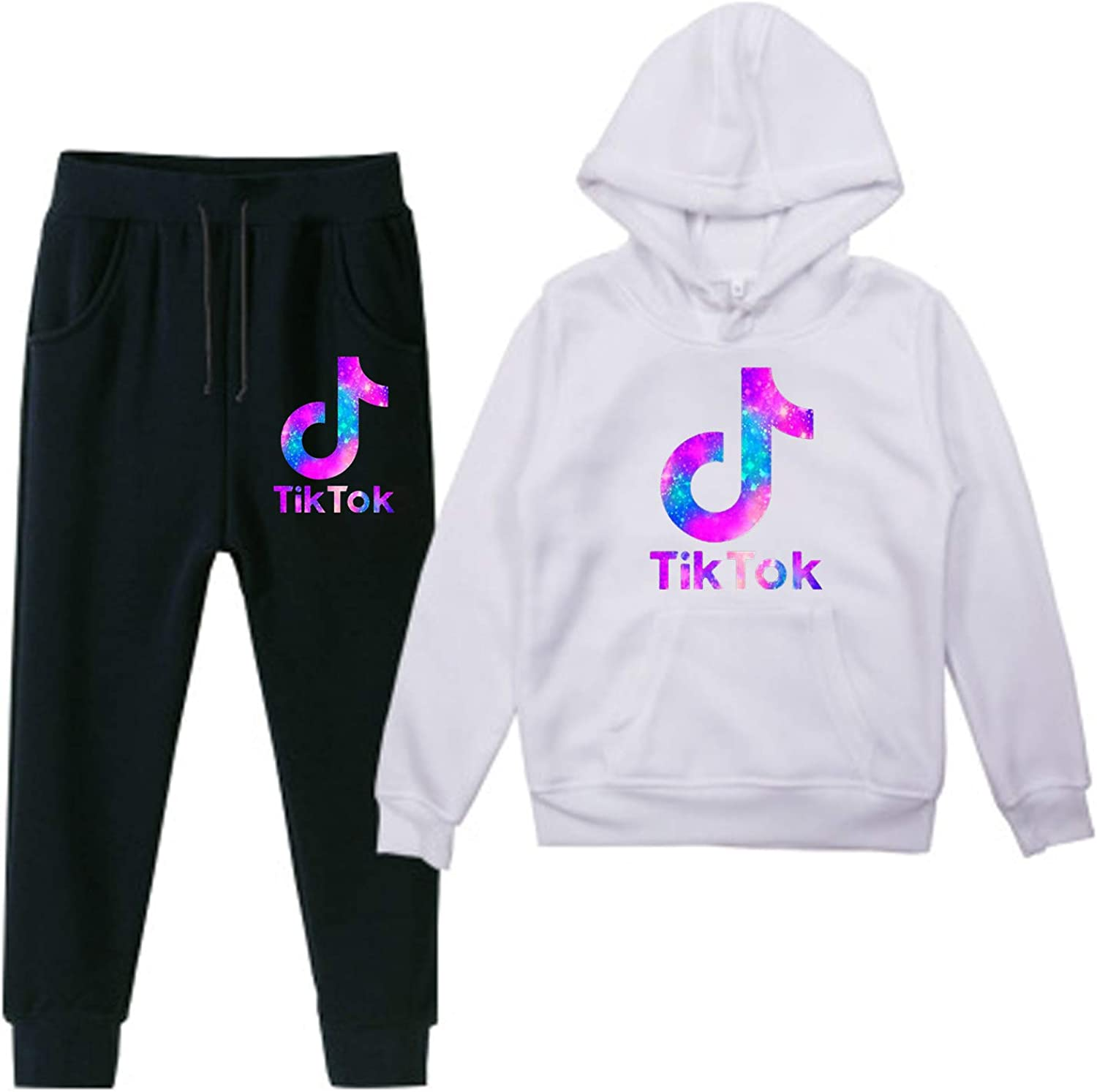 TI-K TOK Kids Sweater Suit Novelty Hoodies and Long Pants Two Piece Pullover for Girls Boys