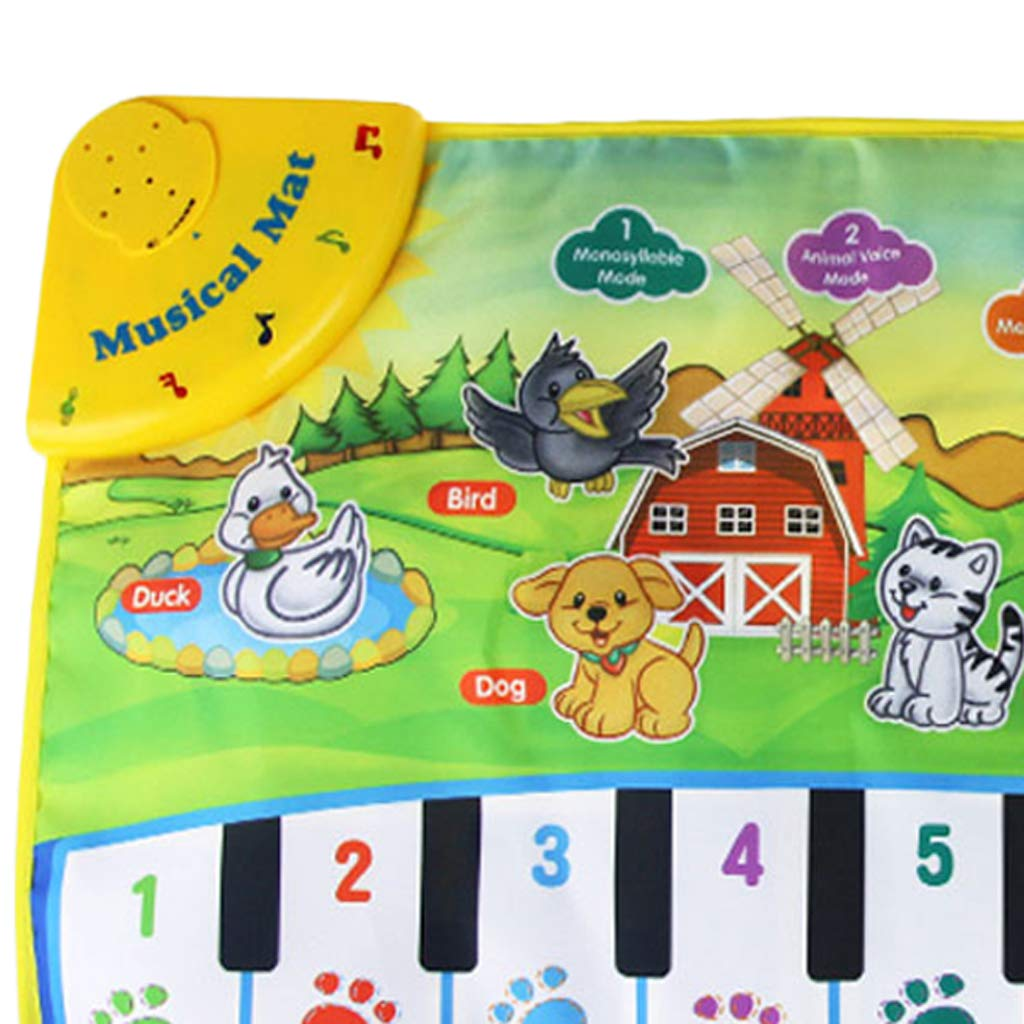 SM SunniMix Durable Piano Mat Electronic Music Carpet Touch Play Blanket, Perfect for Kids 2 to 5 Year Olds Dance & Learn (22x14 inch) by SM SunniMix (Image #7)