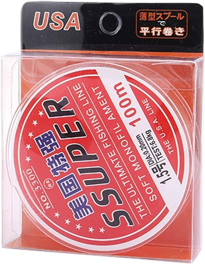 QICHENGBIN Fil de p/êche Sensibilit/é /élev/ée Extra Forte Puissance Ligne de p/êche 100m // 2,5# 0.26mm // 12 kg