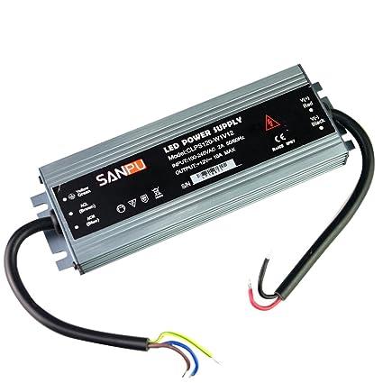 amazon com ip67 waterproof power supply 12v 120w 10a constant