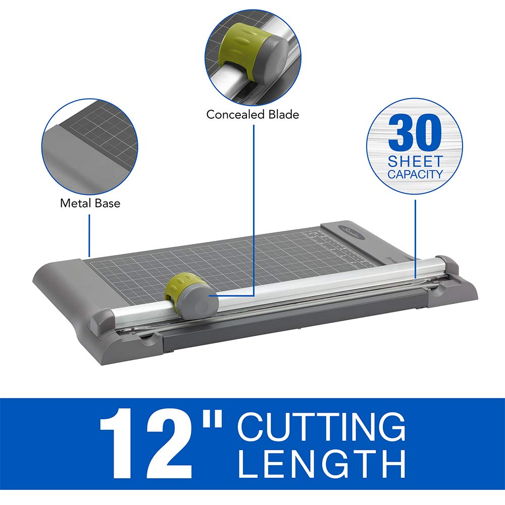 Swingline SmartCut Pro 12-Inch Metal Rotary Trimmer 10 Sheet 9512 Desktop