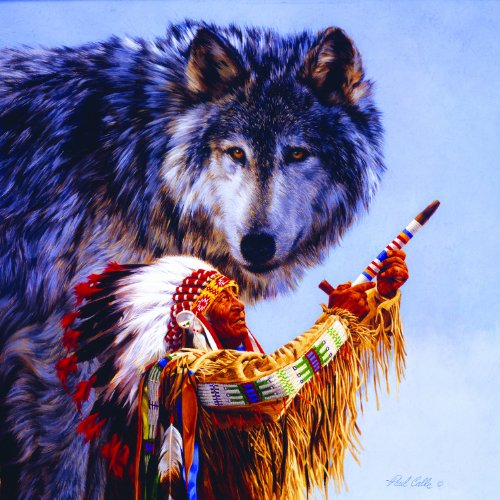 O Spirit of the Wolf 500 pc Jigsaw Puzzle
