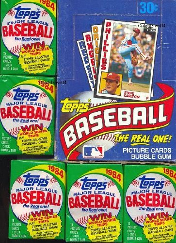 1984 Topps Baseball Cards - Wax Pack (1 Pack of 15 Cards + Stick of Gum)