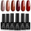 Beetles Gel 6 Colors Caramel Collection UV Gel Nail Polish Kit