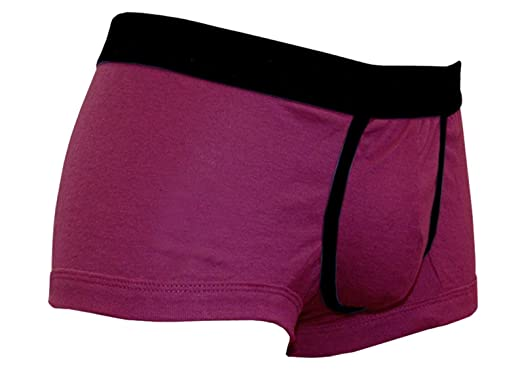 78ad2db62c Mens Jersey Boxer shorts Briefs Trunks Cotton Polyester Magenta ...