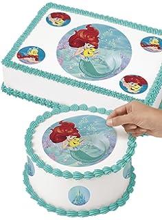 Amazoncom Little Mermaid 14 Sheet Edible Photo Birthday Cake