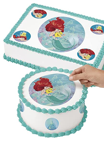 Amazoncom Disney Princess Ariel Edible Images Cake Decorating Kit