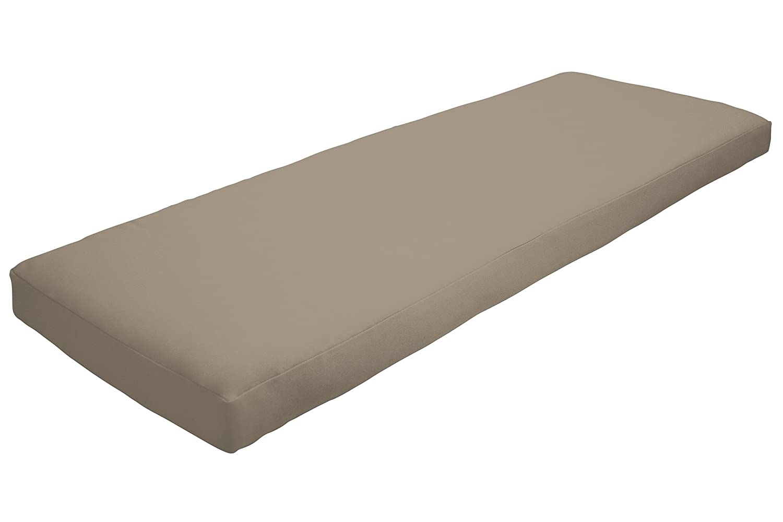 Pillow Perfect Indoor Outdoor Polka Dot Black Swing Bench Cushion