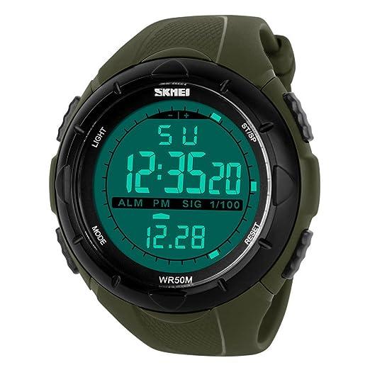 c277547de551 Military Readeel hombre reloj deportivo Digital LED reloj infantil de cuarzo