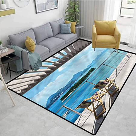 Tablecovershome Beach Theme Moire Kids Rugs Garden And Ocean View Pattern Printing Rugs Durable Carpet Area Rug Living Dinning Room Bedroom Rugs And Carpets 2 5 X 9 Amazon Co Uk Kitchen Home