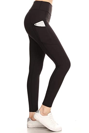 aded1620f79 Leggings Depot High Waisted Leggings -Soft   Slim - Solid Colors   1000+  Prints at Amazon Women s Clothing store