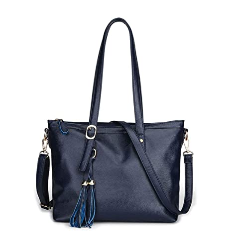 DEERWORD Mujer Shoppers y bolsos de hombro Bolsos bandolera Carteras de mano y clutches Azul