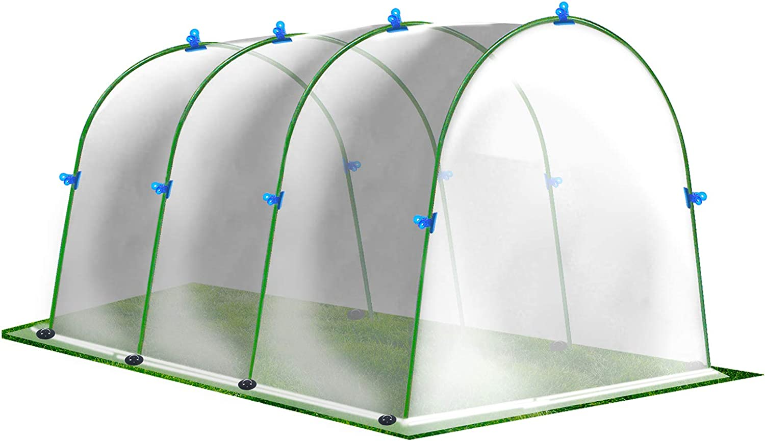 G-LEAF Greenhouse Hoops W/Plant Cover, Garden Grow Tunnel Greenhouse Polyethylene Tent Arch Film for Horticulture, Garden and Agriculture