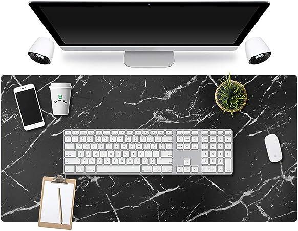 con bordi cuciti Tappetino per mouse da scrivania per scrivania antiscivolo impermeabile in pelle