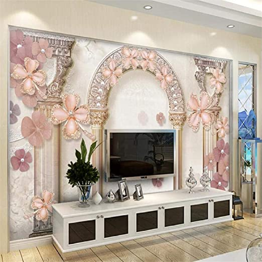 Amazon Com Xsj Wallpaper Custom 3d Stereo Photo Mural European Pattern Roman Column Tv Sofa Background Wall Painting 3d Wallpaper 150105cm Home Kitchen