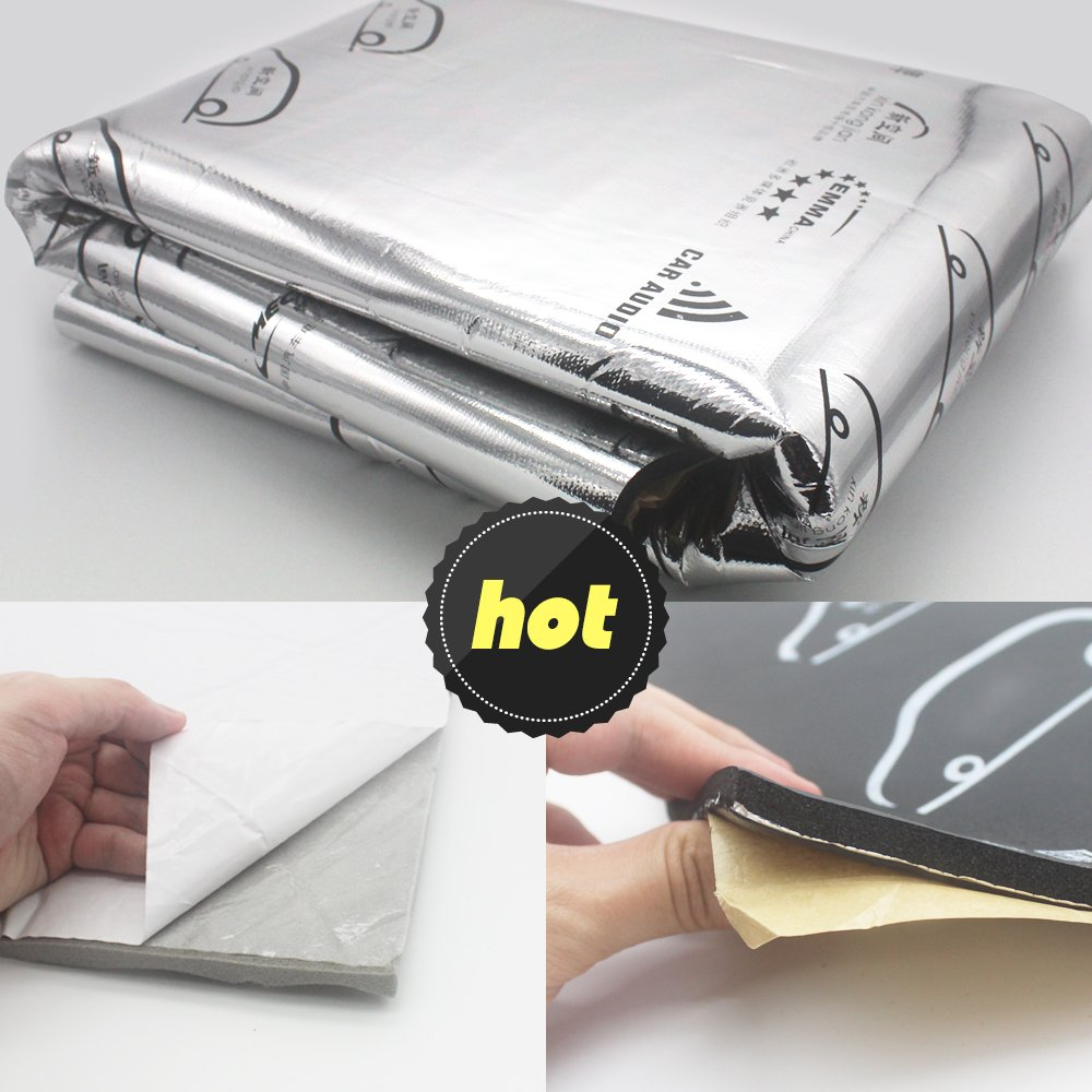 3IN 1 ,196mil 39 sqft Car Sound deadening Mat, Butyl Automotive Sound Deadener, audio Noise Insulation Dampening Proofing
