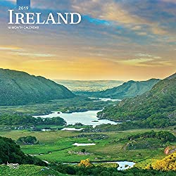 Ireland 2019 12 x 12 Inch Monthly Square Wall Calendar, Scenic Travel Dublin Irish