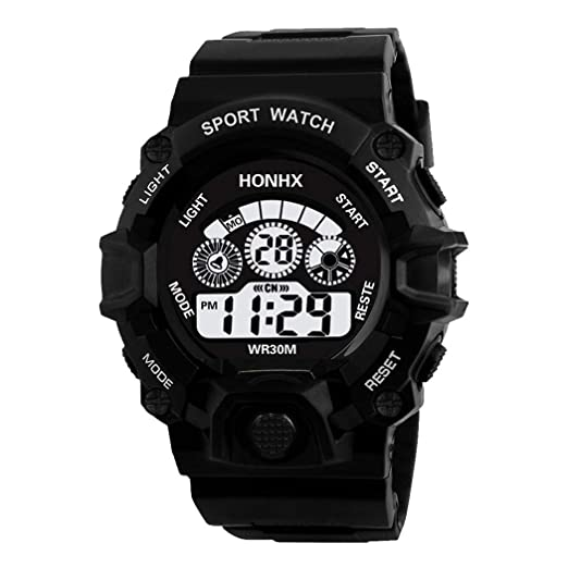 Men Watches On Sale Clearance,Men Multifunction Sport Digital LED Watch Electronic Waterproof Watch Everything