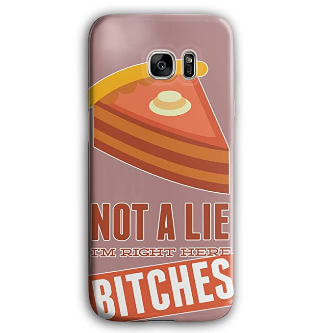 Amazon com: Right Here Pie Cool Funny Not 3D Samsung Galaxy S7 Edge