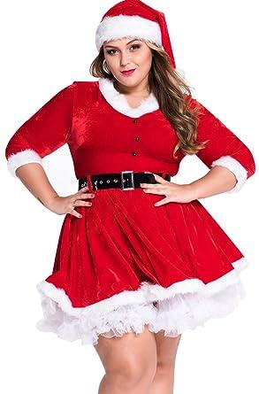 Baymate Ladies Xmas Fancy Dress Costume Christmas Party Santas