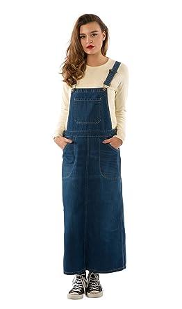 Denim dungaree dress size 18