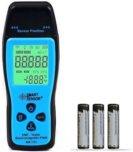 EMF M/ètre Hinmay Champ /électromagn/étique d/étecteur de rayonnement Handheld EMF d/étecteur de rayonnement Mini Digital LCD M/ètre Dosim/ètre testeur piles incluses