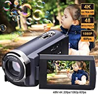 SEREE Camcorder 4K 48MP WIFI Control Digitial Camera 3.0'' Touch Screen Night Vision Video Camcorder from SEREE