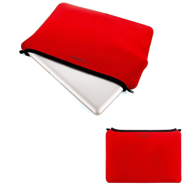 Universal Laptop Bag Tablet Pouch Carrying Case 11.5 to 12.5 Acer Aspire/Apple MacBook/Asus E VivoBook/EeeBook/Chromebook/Dell Inspiron 11 3000/Latitude 11 (Black/Gray Trim) Vangoddy
