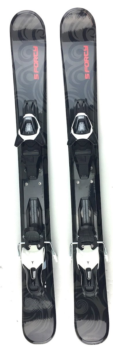 Snowjam Titan 99cm Skiboards Snowblades with Atomic Release Bindings 2018