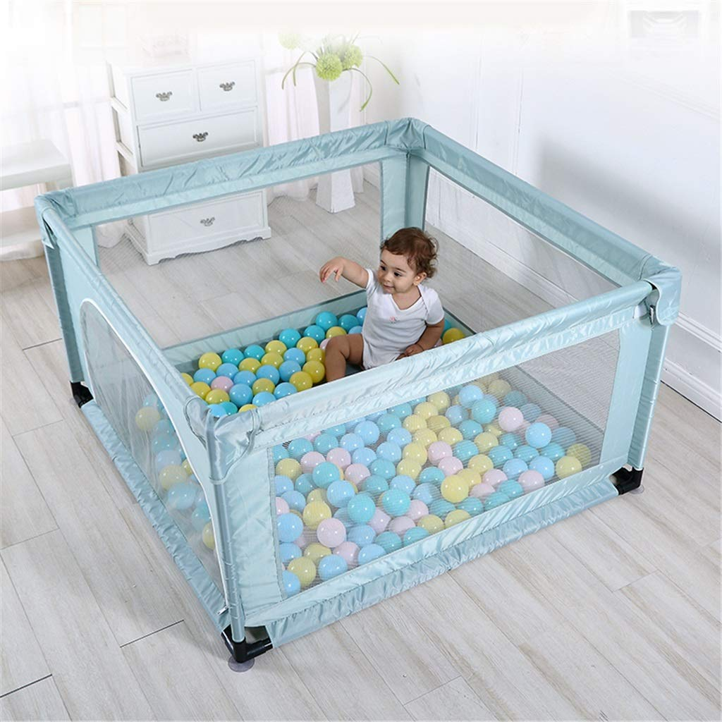 赤ちゃんのためのベビーサーペン洗えるプレイセンター屋内ホーム通気性メッシュ赤ちゃんのための幼児のベビーサークル安全柵、汚れ防止、落下防止   B07RB5DRZM