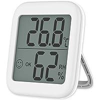 VICKSONGS Digital Termometer Hygrometer Inomhus luftfuktighetsmätare Termohygrometer [Fästet och magnetisk montering…