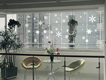 Creative Personality Warm Minimalist Wall Stickers Romantic White - Snowflake window stickers amazon