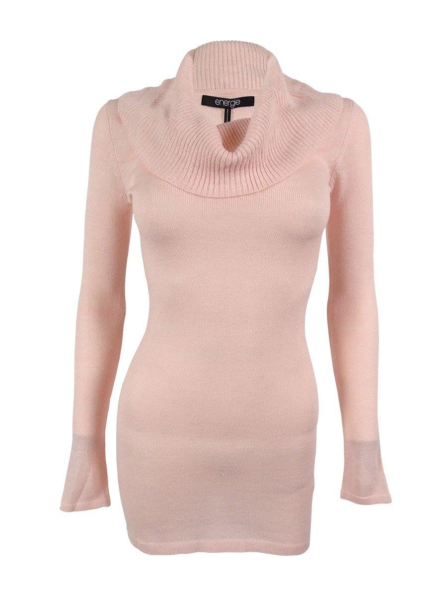 Energie Junior's Long Sleeve Tunic Sweater Dress (S, Veiled Rose Lurex)