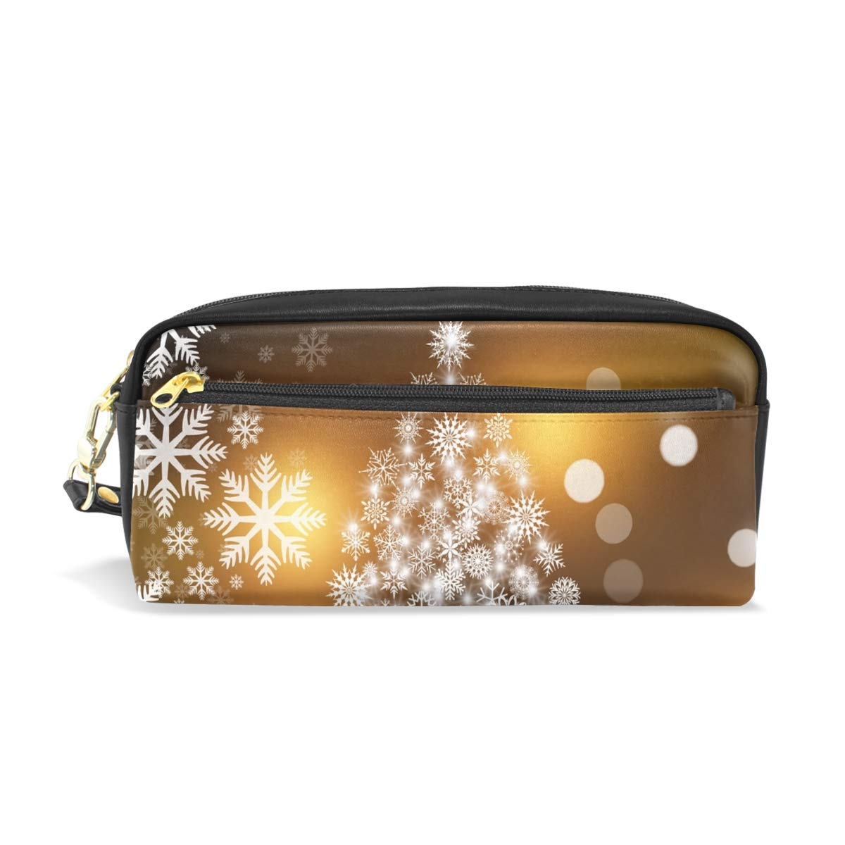XINGCHENSS Pencil Case Stylish Print Christmas Card Christmas Atmosphere Advent 574742 Art Pattern Large Capacity Pen Bag Makeup Pouch Durable Students Stationery Two Pockets with Double Zipper PENCILCASE-20180911-495