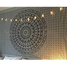 Craftozone Mandala Bohemian Tapestry Wall Hanging, Psychedelic Wall Art, Dorm Décor Beach Throw, Indian Wall Tapestries
