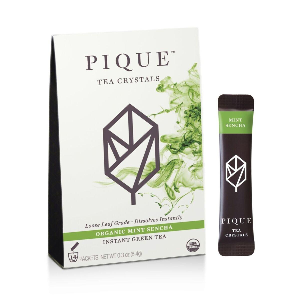 Pique - Cold Brew Instant Tea - Organic Mint Sencha Green Tea Powder - Antioxidants, Calm Energy, Sugar-Free - 14 Stick Packs
