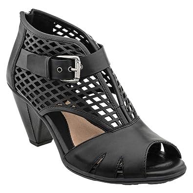 Earth Women's Virgo Sandal,Black Soft Leather,US ...