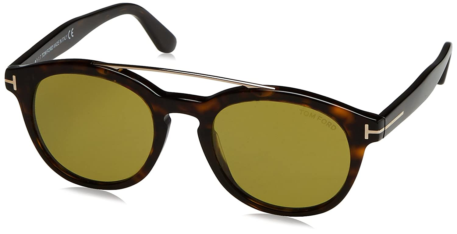 e47327bb3f5 Amazon.com  Tom Ford FT0515 52N Shiny Gradient Havana Newman Round  Sunglasses Lens Category  Tom Ford  Clothing
