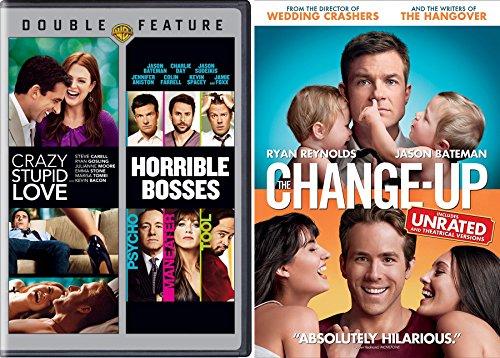 Dysfunctional Comedy Set - Change Up, Crazy Stupid Love & Horrible Bosses 3-Movie Bundle