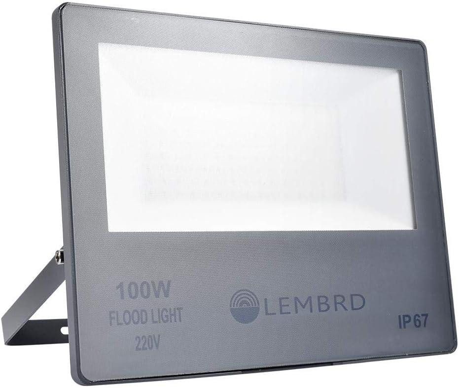 Yuanline Led Foco Proyector Led Para Exterior, 100W IP67 Foco LED, 10000LM Luces de seguridad súper brillantes, 6000-6500K Proyectores blancos fríos para jardín, garaje, sótano (Blanco frío, 100w)