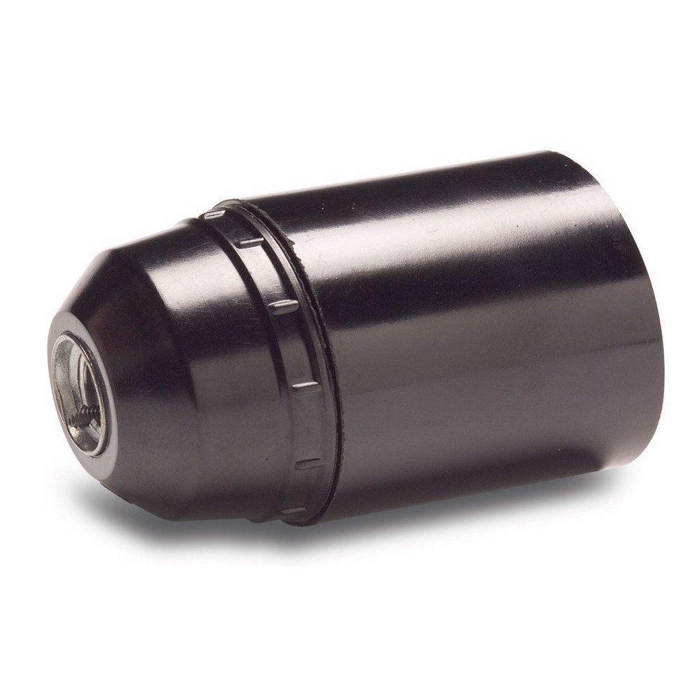 Famatel M111792 Attacco per lampadina E-27, 4 A, a tinta unita, colore: nero