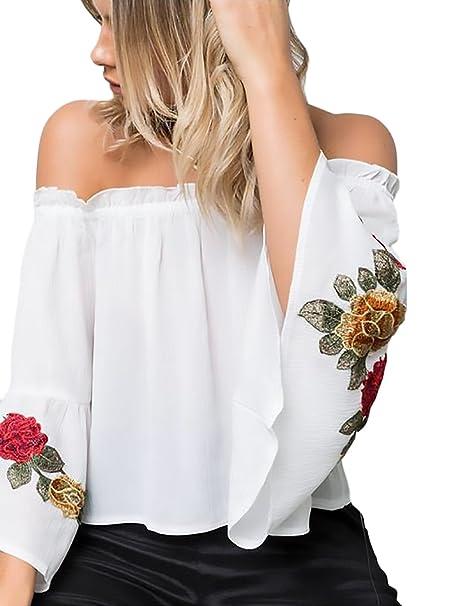 Camicia Manica Di Donna Lunga Parola A Chic Maglie Spalla Elegante 13TFKcJul