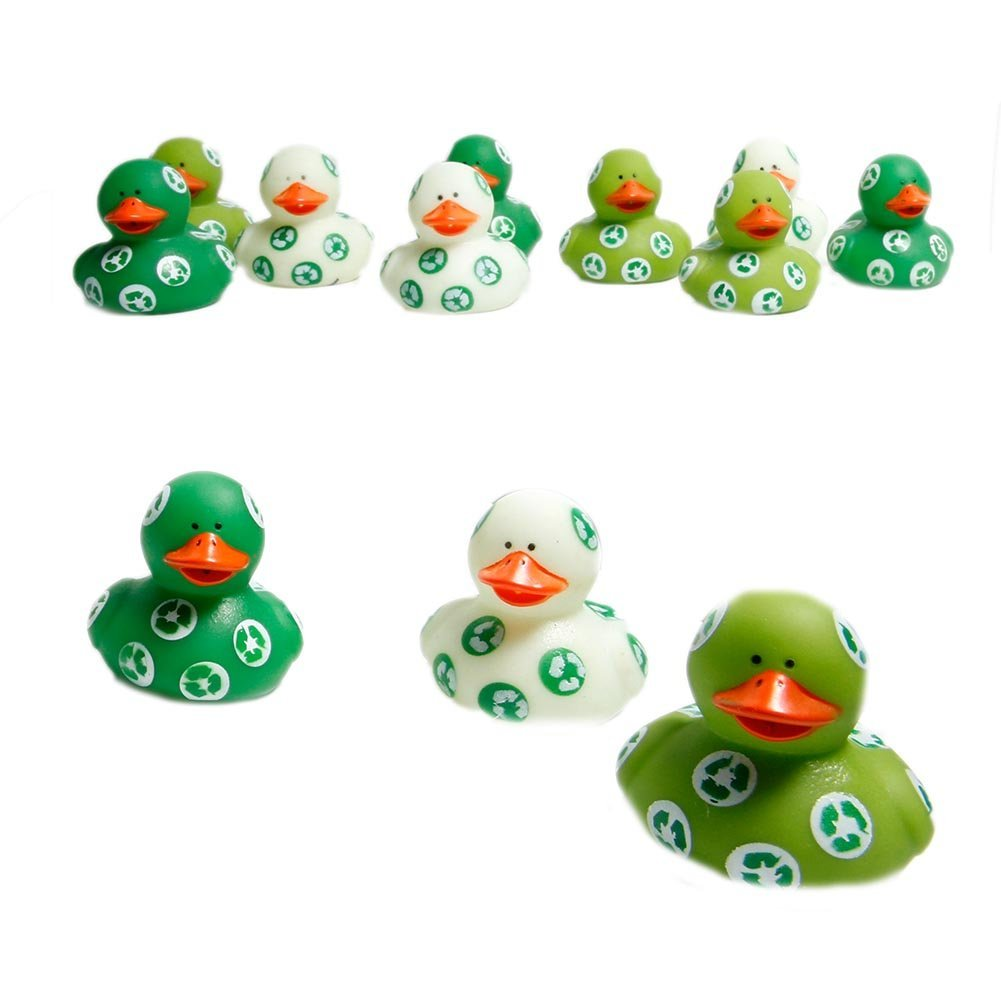 Earth Day rubber ducks recycle games for kids
