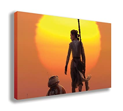 STAR WARS THE FORCE AWAKENS PHOTO PRINT ON FRAMED CANVAS WALL ART