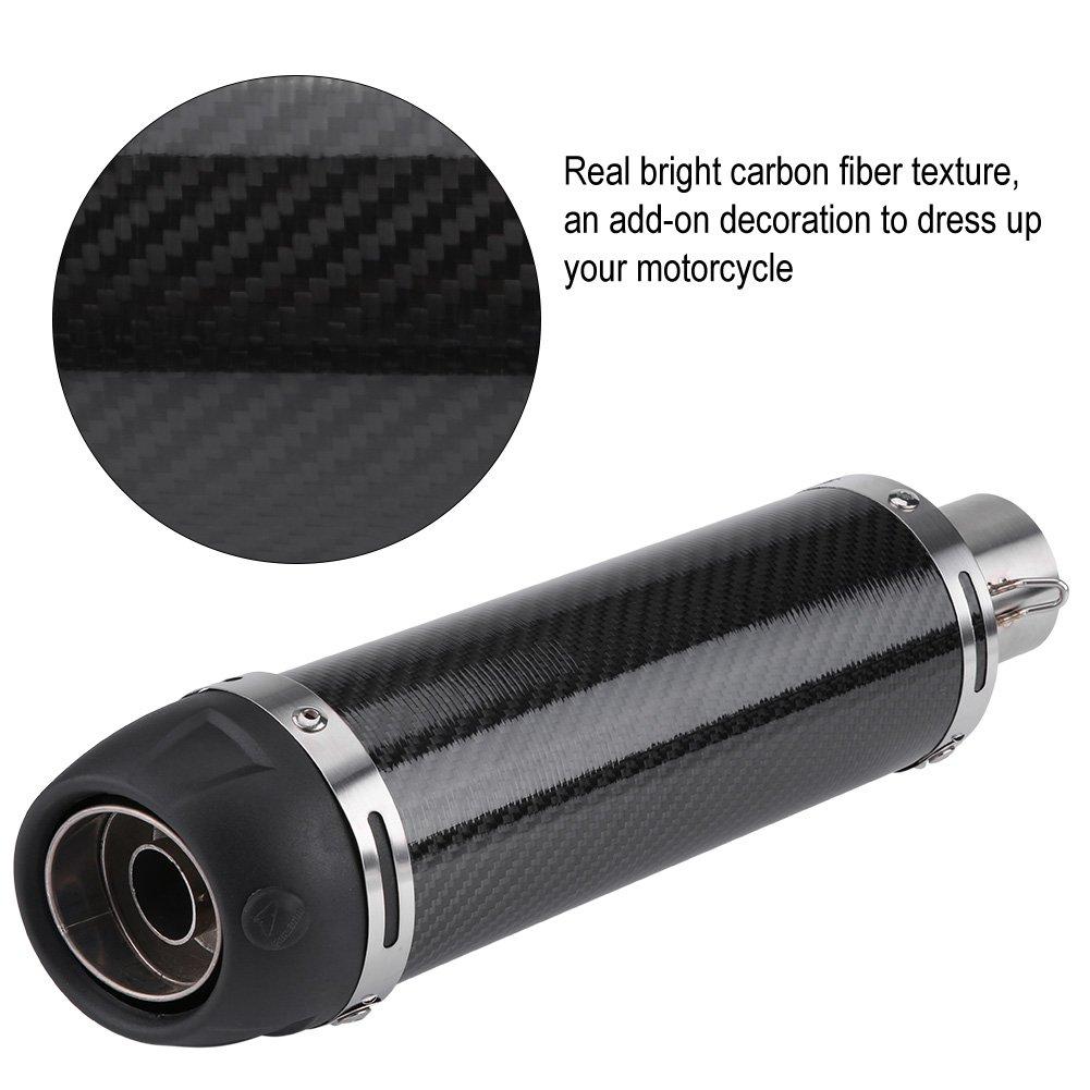 Tubo di scarico universale con DB Killer per moto 51 mm in fibra di carbonio Aramox
