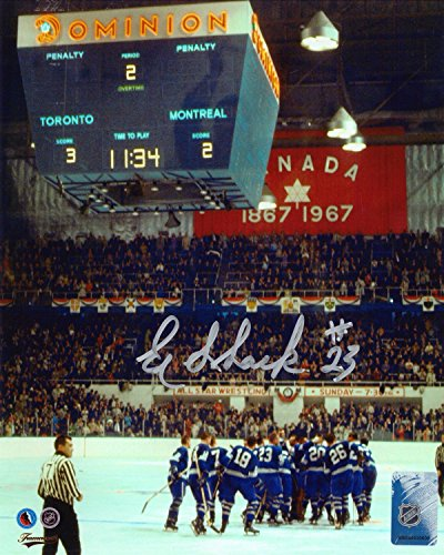 Eddie Shack Signed 8x10 Unframed Photo Toronto Maple Leafs 1967 Stanley Cup Finals ()