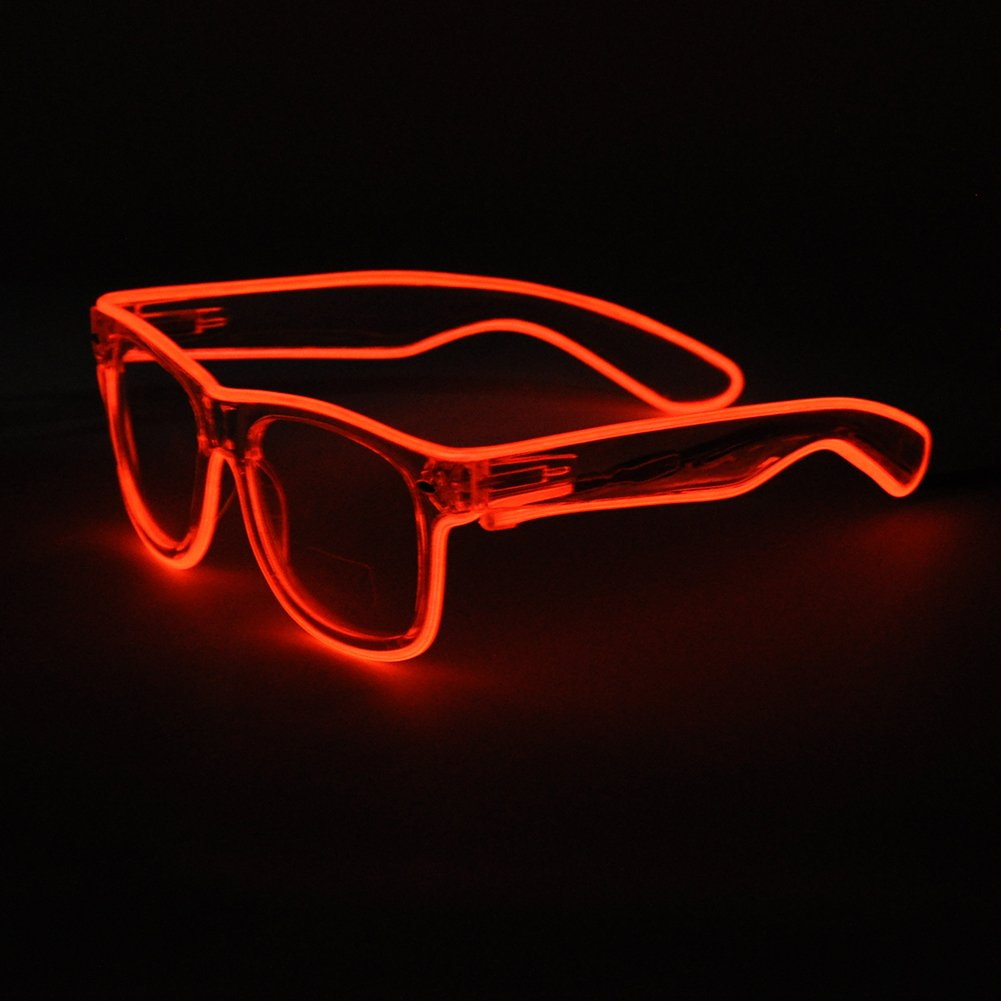 Generic EL Wire Rave Sunglasses LED Light Up Party Glasses(Red) NEW ...